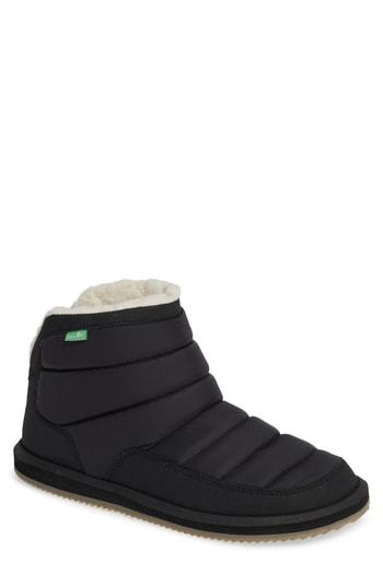 Men's Sanuk Puff & Chill Weather Boot M - Black