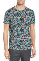 Men's Ted Baker London Bloc Apple Print Shirt (s) - Pink