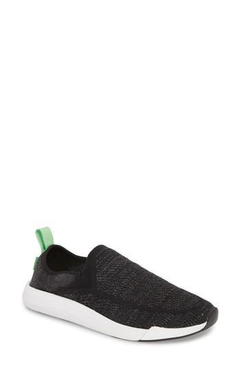 Women's Sanuk Chiba Quest Knit Slip-on Sneaker M - Black