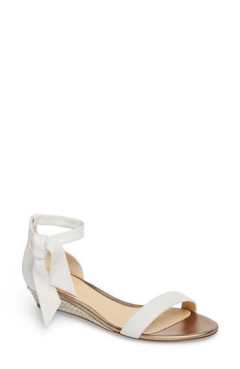 Women's Alexandre Birman Clarita Wedge Sandal M - White