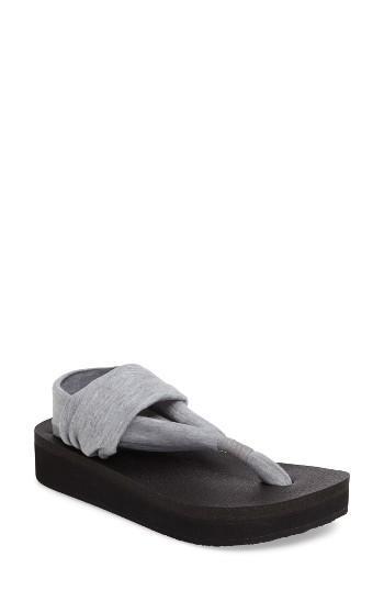 Women's Sanuk Yoga Sling Platform Sandal M - Grey
