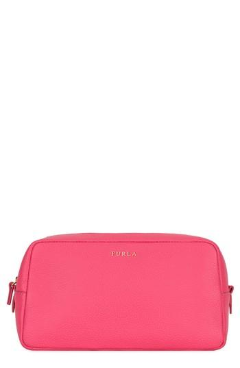 Furla Bloom Extra Large Leather Cosmetic Case, Size - Ortensia