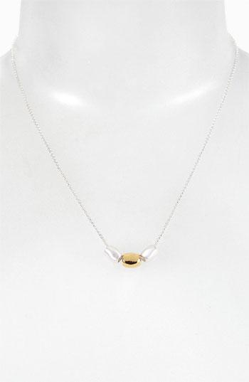 Argento Vivo 'bauble Bar' Two Tone Necklace (nordstrom Exclusive) Silver/ Gold