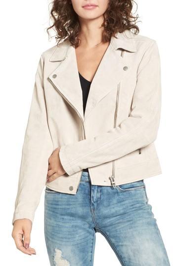 Women's Blanknyc Suede Moto Jacket - Beige