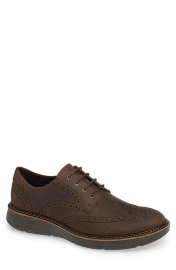 Men's Ecco Lhasa Wingtip -11.5us / 45eu - Brown