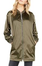 Women's Two By Vince Camuto Long Bomber Jacket - Green