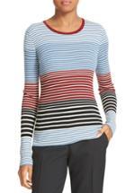 Women's Theory Mirzi Stripe Rib Knit Merino Sweater