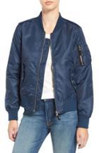 Women's Steve Madden Side Zip Bomber Jacket - Blue