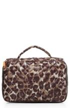 Mz Wallace Quilted Zip Around Cosmetic Bag, Size - Leopard Print