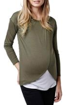 Women's Topshop Long Sleeve Maternity/nursing Top