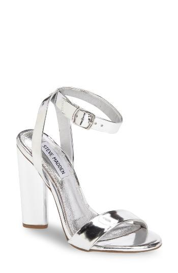 Women's Steve Madden Treasure Sandal .5 M - Metallic