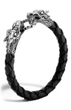 Men's John Hardy 'naga' Dragon Head Leather Bracelet