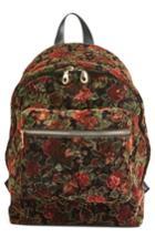 Chelsea28 Floral Velvet Backpack - Black