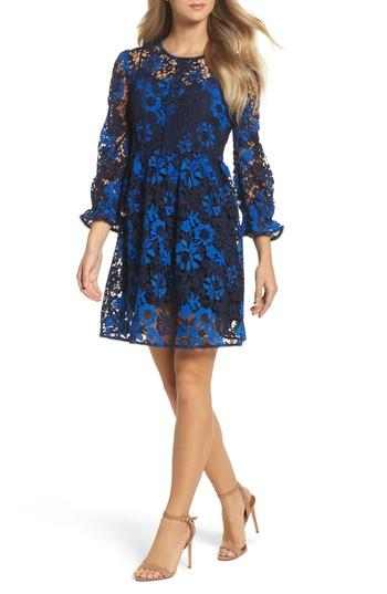 Women's French Connection Musa Lace Dress - Blue