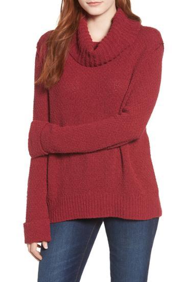 Women's Caslon Cuff Sleeve Sweater - Red