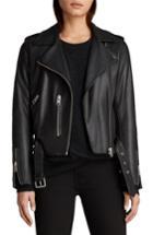 Women's Allsaints Balfern Leather Biker Jacket - Black