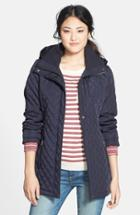 Women's Calvin Klein Hooded Quilted Jacket - Pink
