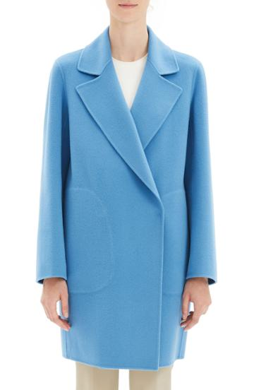 Women's Theory Wool & Cashmere Boy Coat - Blue