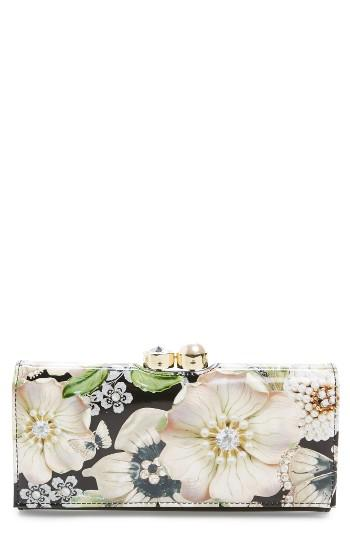 Women's Ted Baker London Gem Gardens Leather Matinee Wallet -