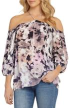 Women's 1.state Off The Shoulder Sheer Chiffon Blouse
