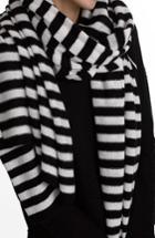 Women's White + Warren Travel Stripe Cashmere Wrap