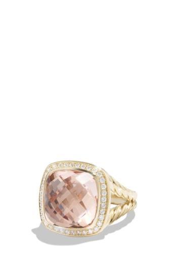 Women's David Yurman 'albion' Ring With Diamonds In 18k Gold