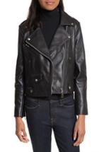 Women's Rebecca Minkoff Wes Leather Moto Jacket - Black