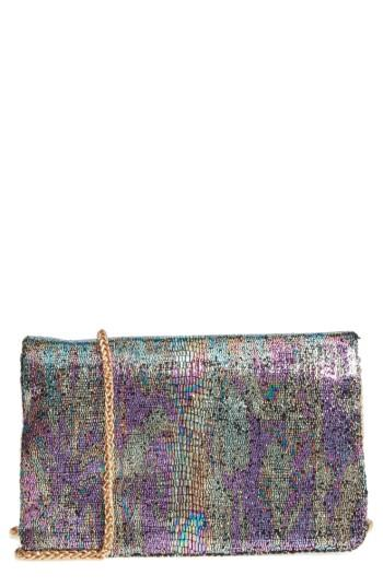 Street Level Sequin Clutch - Pink