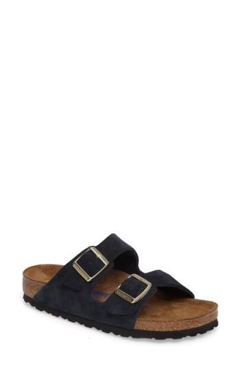 Women's Birkenstock 'arizona' Soft Footbed Suede Sandal -5.5us / 36eu B - Blue