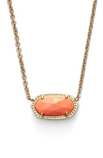 Women's Kendra Scott 'elisa' Pendant Necklace - Coral Magnesite