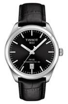 Women's Tissot Pr 100 Powermatic 80 Leather Strap Watch, 39mm