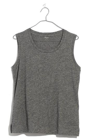 Women's Madewell Whisper Cotton Crewneck Muscle Tank, Size - Grey