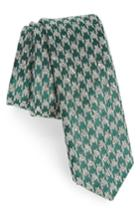 Men's The Tie Bar Houndstooth Thrill Silk Tie, Size - Green
