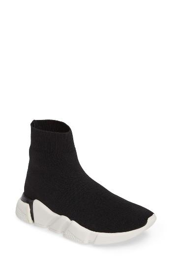 Women's Jeffrey Campbell Redman High-top Sock Sneaker .5 M - Black
