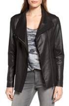 Women's Two By Vince Camuto Coated Ponte Knit Moto Jacket