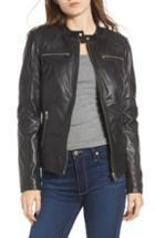 Women's Madewell Washed Leather Moto Jacket - Brown