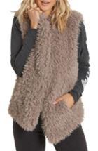 Women's Billabong Furever Love Faux Fur Vest