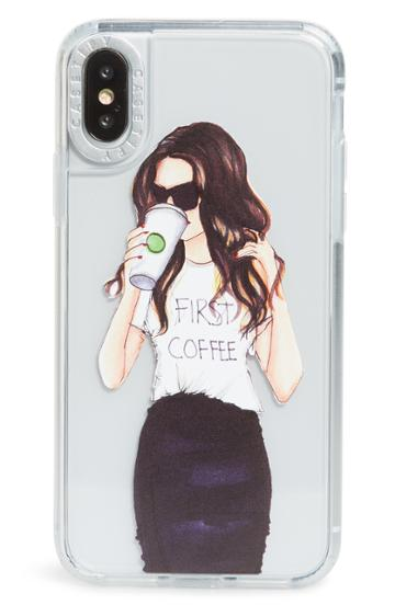 Casetify Coffee First Grip Iphone X/xs Case - White