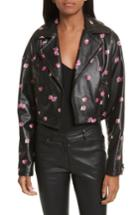 Women's Rebecca Taylor Floriana Leather Jacket - Black
