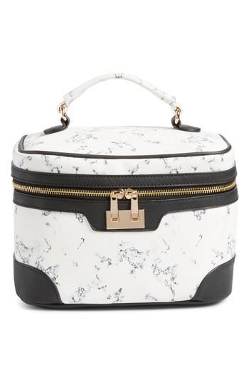 Yoki Bags Marbleized Cosmetics Bag, Size - Black Multi