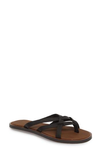 Women's Sanuk Yoga Strappy Thong Sandal M - Black