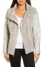 Women's Vince Camuto Faux Shearling Jacket - Grey
