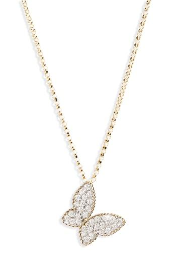 Women's Roberto Coin Diamond Butterfly Necklace