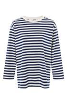 Women's Topshop Boutique Stripe Shirt Us (fits Like 0) - Blue