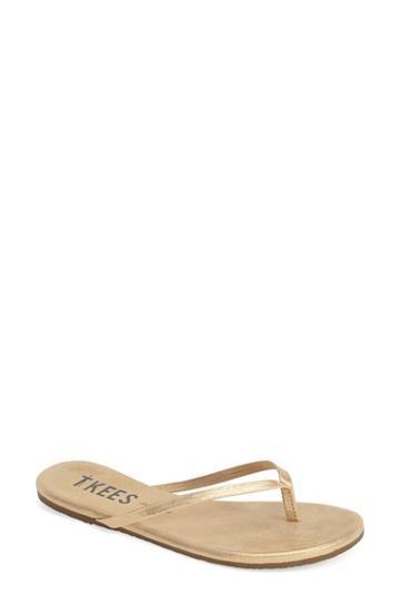 Women's Tkees 'glitters' Flip Flop M - Beige