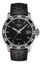 Men's Tissot V8 Swissmatic Perforated Leather Strap Watch, 42mm