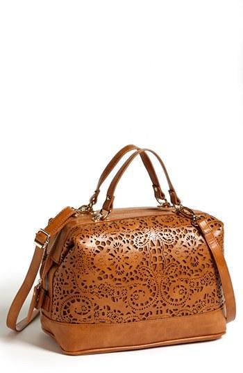 Sole Society 'camille' Laser Cut Satchel Luggage