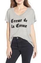 Women's Wildfox Creme De La Creme Romeo Tee - Grey