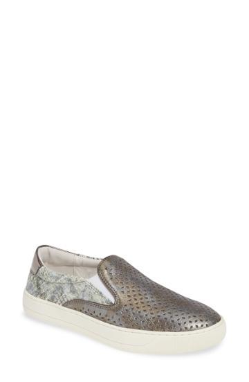 Women's Johnston & Murphy Elaine Perforated Slip-on Sneaker M - Grey