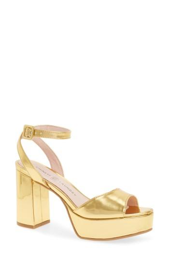 Women's Chinese Laundry Theresa Metallic Platform Sandal .5 M - Metallic